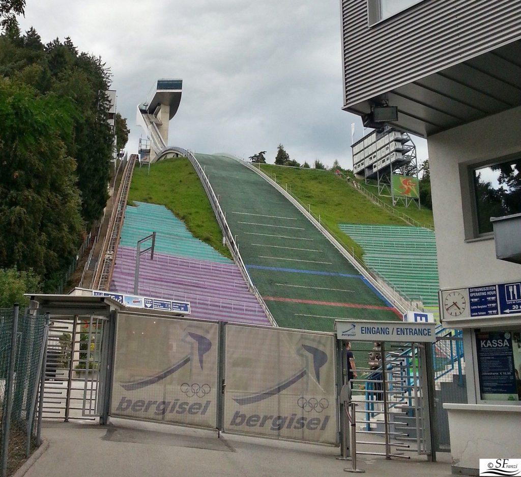 innsbruck in un giorno trampolino olimpionico