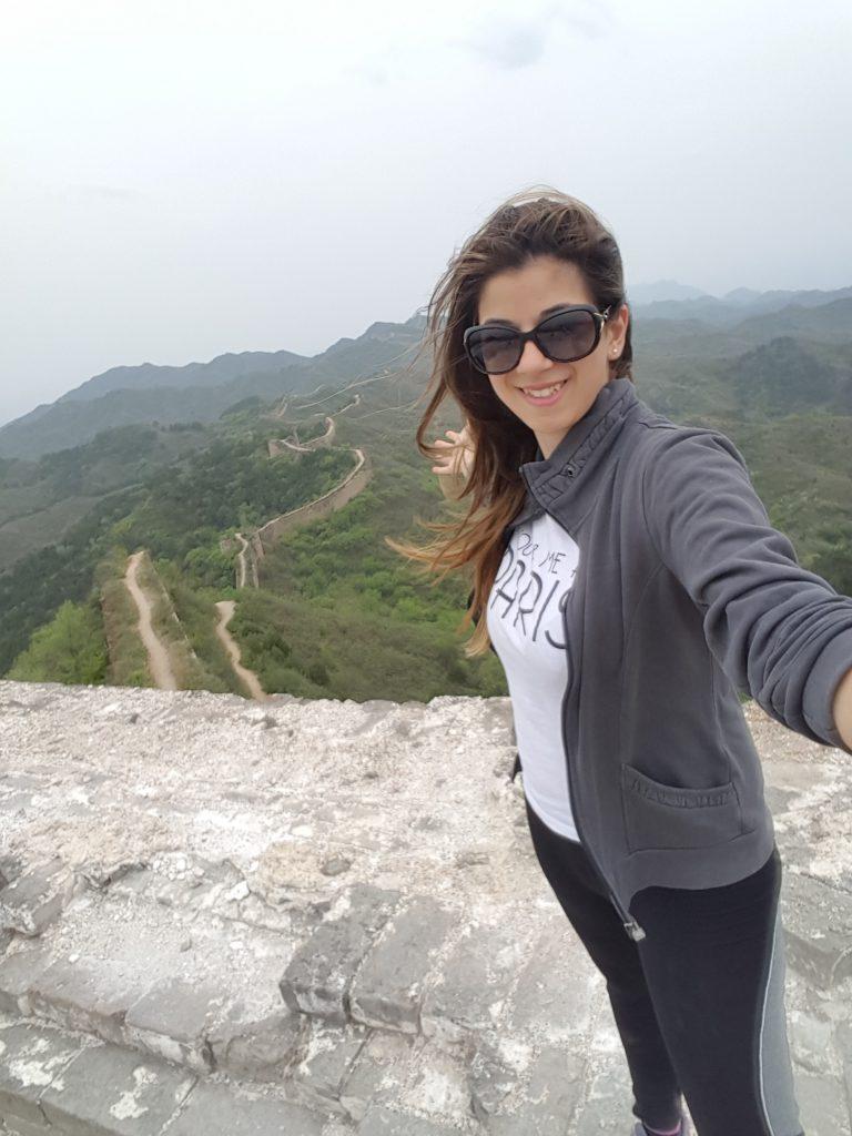muraglia cinese in viaggio da sola